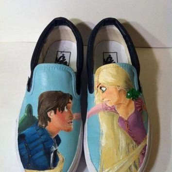 PEAPON tangled custom painted vans keds converse etc