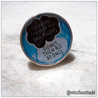 "Metal / Resin ring inspired by ""The fault in our stars"""