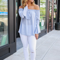 Southern Sass Top - Periwinkle