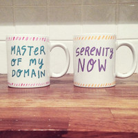 Seinfeld Hand-Painted Mugs (4 Phrases)