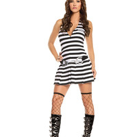 Irresistible Inmate - 3 pc. costume includes dress, handcuff  belt and hat.