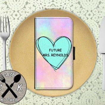 Future Mrs. Reynolds Pastel Tumblr Candy Heart Custom Wallet Phone Case For iPhone 4 and 4s and iPhone 5 and 5s and 5c and iPhone 6 and 6 +