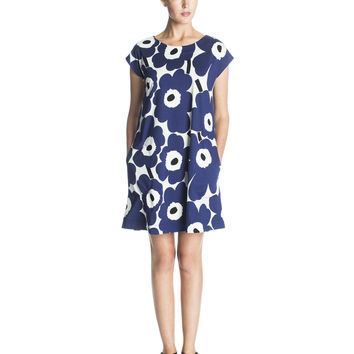 SIEVA MARIMEKKO DRESS BLUE/GREY