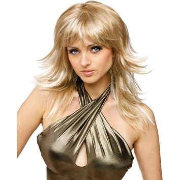 Wig Feathered Frisky Blonde