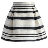 Stripe It Lucky Organza Mini Skirt