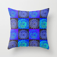 Many Blue Stars Throw Pillow by 2sweet4words