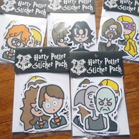 10 pc HARRY POTTER sticker pack original cartoon art designs by Jera Sky snape dobby neville