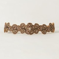 Sparkling Carob Belt by Deepa Gurnani Gold M Belts