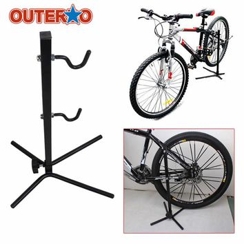Adjustable Bicycle Maintenance Repair Stand Rack Cycling Display Bracket Floor Stand Storage Parking Racks Repair Tool