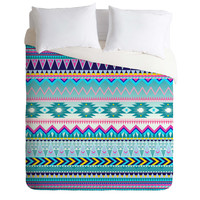 Iveta Abolina Tribal Teal Duvet Cover