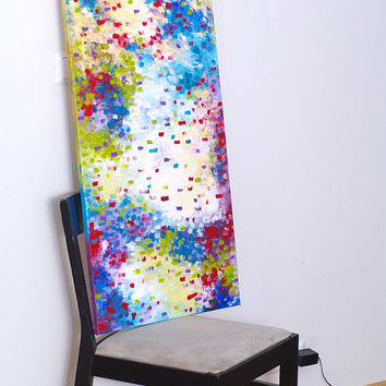 Vertical canvas Vertical art Large vertical wall art Abstract painting Large wall art Acrylic painting Large abstract art Abstract wall art