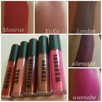 Whole 6 shades Liquid to Matte Collection. Waterproof and long lasting. Dupe jeffreestar lime crime anastasia Vegan cruelty free