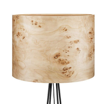 Wood Floor Lamp, Housewarming gift, Unique Floor Lamp, Poplar Veneer Floor Lamp Shade, Living room lighting, Manufacturer of Lamps, THEA
