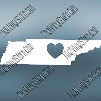 Tennessee Heart Home Decal | I Love Tennessee Decal | Homestate Decals | Love Sticker | Love Decal  | Car Decal | Car Sticker| 501