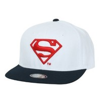 ililily Superman Shield Embroidery New era with Adjustable Strap Trucker Hat (ballcap_621_2)