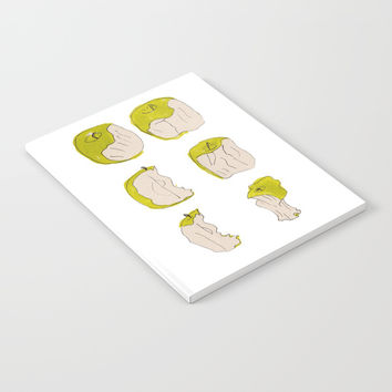 Eating process (Apple) // watercolor apple consumption Notebook by Camila Quintana S