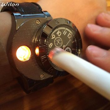 Men's Watch Flameless Lighter USB Charging