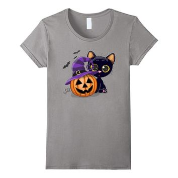 Pumpkin in a Hat with this Cute Cat T-Shirt