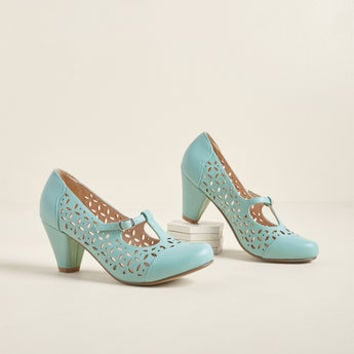 Opting for Intrigue T-Strap Heel in Mint