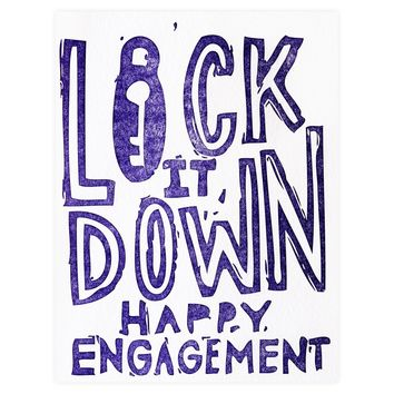 Lock Down Engagement Card