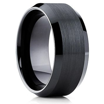 Men's Cobalt Wedding Band - Black Wedding Band - Cobalt Chrome Ring