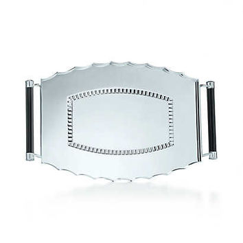 Tiffany & Co. - Ziegfeld Collection vanity tray in sterling silver.