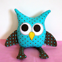 Owl Pillow Stuffed by LoungeAboutPillows on Etsy
