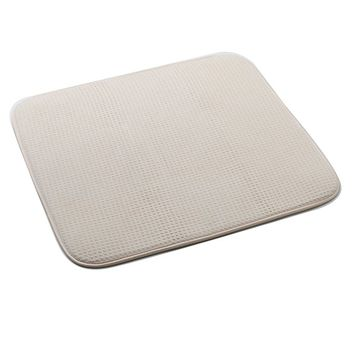 Norpro 18 by 16-Inch Microfiber Dish Drying Mat, Cream