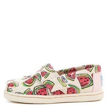 MDIGH3W Tiny Toms Classics Watermelon Flats
