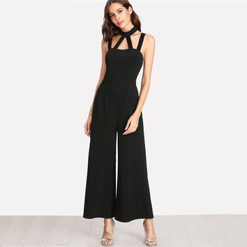 Day & Night Black Jumpsuit