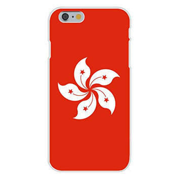 Apple iPhone 6 Custom Case White Plastic Snap On - Hong Kong - World Country National Flags