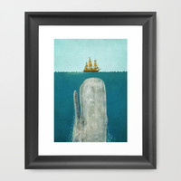 The Whale  Framed Art Print by Terry Fan