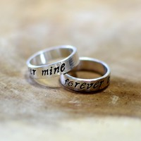 Sterling silver forever mine ring set