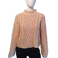 525 America Cable Knit Mock Turtleneck Sweater | ShopAmbience