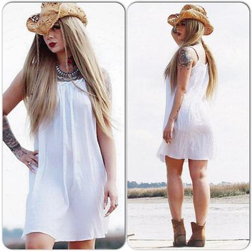 M Festival Tunic Dress, Gauze Hippie Dress, Boho Dress Bohemian Style Dress, Spell Gypsy Dress, Beach White Spring Dress True Rebel Clothing