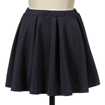 Navy High Waist Skirt
