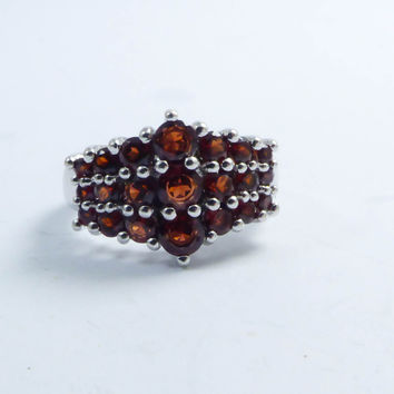Best Garnet Cluster Ring Products On Wanelo