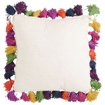 Boho Tassel Pillow - Multi