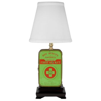 Vintage Boy Scout First Aid Kit Lamp