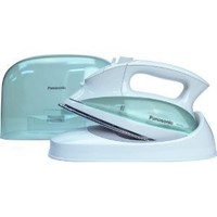 Panasonic NI-L70SR Cordless Iron, Curved Stainless Steel Soleplate, White/Clear Green