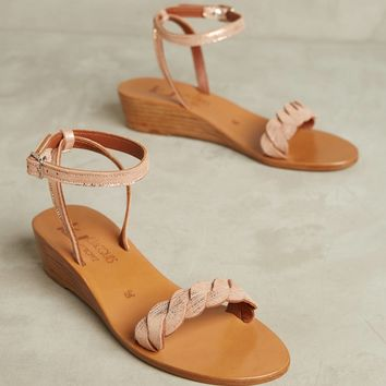 K. Jacques Sesame Micro Wedge Sandals