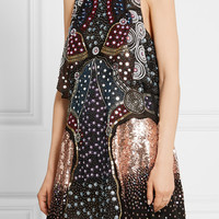 Mary Katrantzou - Juno embellished silk-chiffon mini dress