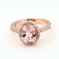 AMAZING 4.52C MORGANIT OVAL STUD 925 STERLING SILVER ENGAGEMENT AND WEDDING RING