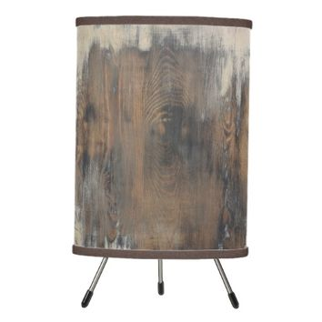 rustic,worn,wood,brown,wall,vintage,country,chic,s tripod lamp