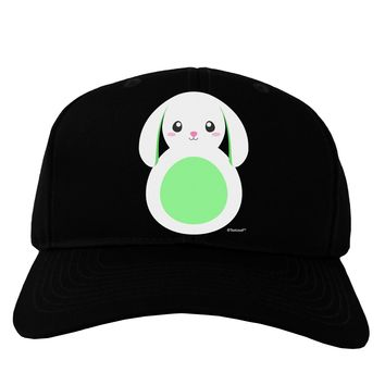 Cute Bunny with Floppy Ears - Green Adult Dark Baseball Cap Hat by TooLoud