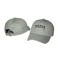 Perfect Yeezus Women Men Edgy Embroidery Baseball Cap Hat Sport Sunhat