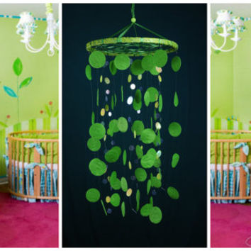 Green Baby Mobile handmade exclusive Dreamcatcher bedroom Baby Mobiles bedding DreamCatcher Dreamcatchers Christmas present green balance