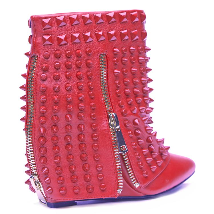 340c0318e73 LUST FOR LIFE BATTLE WEDGE BOOTIE - RED