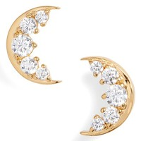 Nadri Reminisce Cubic Zirconia Moon Stud Earrings | Nordstrom