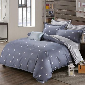 Nordic style Bed linens Bedding Sets For Russia USA Europe Size Duvet Cover Set Double Size Quilt cover Bedding Bedclothes Gray